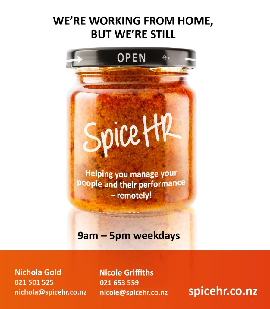 COVID 19 Spice HR is open